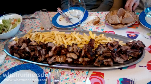 Our large serving of pork ribs in Lambón Bar