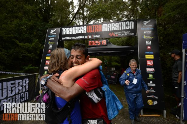 Wet and Sweaty finish line hugs are the best!